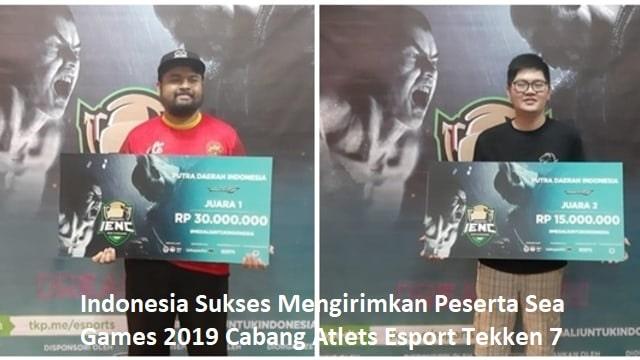 Indonesia Sukses Mengirimkan Peserta Sea Games 2019 Cabang Atlets Esport Tekken 7