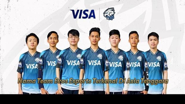 Nama Team Evos Esports Terkenal Di Asia Tenggara